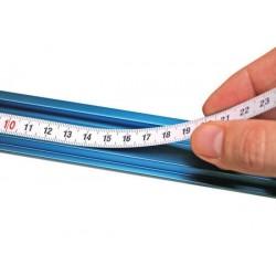 Cinta adhesiva en aluminio con escala izquierda-derecha de 3.650 mm.