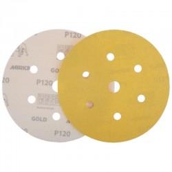 Disco de lija con velcro de 150 mm. y 6 + 1 agujeros grano 120