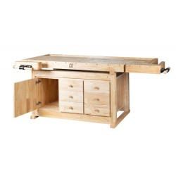 Banco de madera 2.100 x 780 mm. con cajones WB210C