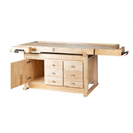Banco de madera 2.100 x 780 mm. con cajones