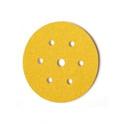 Disco de lija con velcro de 150 mm. y 6 + 1 agujeros grano 180
