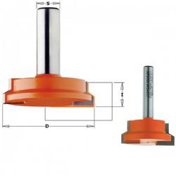 Fresa para la fabricación de cajones 15,87 a 25,4 mm. espesor con mango de 8