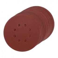 Disco de lija con velcro de 150 mm y 8 agujeros grano 80