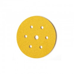 Disco de lija con velcro de 150 mm. y 6 + 1 agujeros grano 600