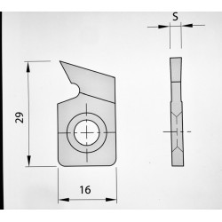 10 Sectores dentados 29 x 16 x 3 mm.