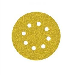 Disco de lija con velcro de 125 mm y 8 agujeros grano 320