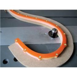 Plantilla flexible para fresados curvos TMP1200